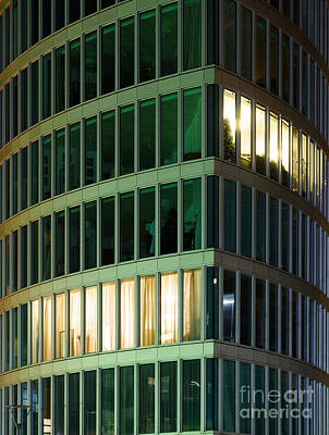 Office Building At Night Poster