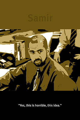 Office Space Samir Nagheenanajar Movie Quote Poster Series 005 Poster by Design Turnpike
