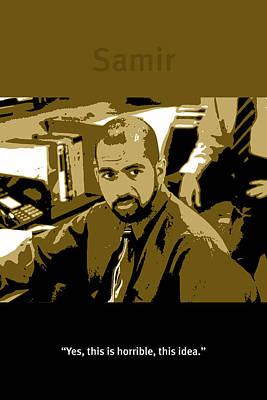 Office Space Samir Nagheenanajar Movie Quote Poster Series 005 Poster