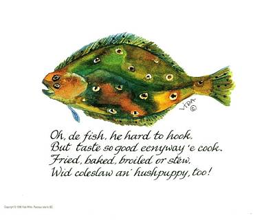Oh De Fish Poster by Vida Miller