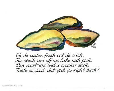 Oh De Oyster Poster by Vida Miller