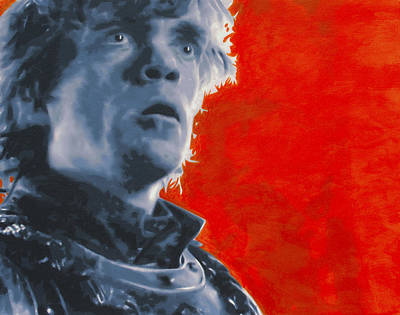 Poster featuring the painting Tyrion Lannister by Luis Ludzska