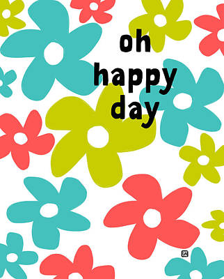 Poster featuring the painting Oh Happy Day by Lisa Weedn