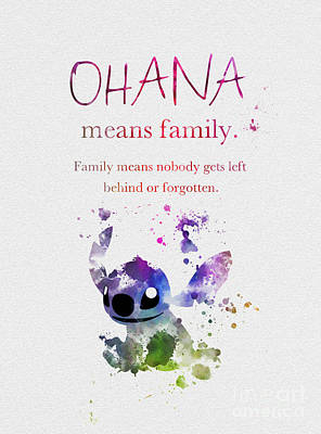 Ohana Means Family 3 Poster by Rebecca Jenkins