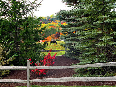 Ohio Farm In Autumn Poster