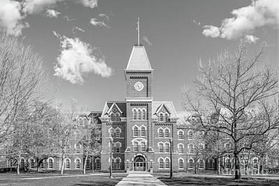 Ohio State University Hall Horizontal Poster