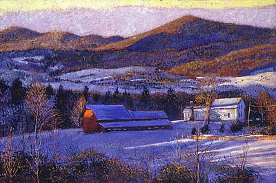 Ohio Winter Blue Poster by David Lloyd Glover