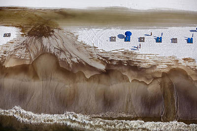 Oil-covered White Sands Of Orange Beach Poster by Tyrone Turner