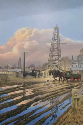 Oil Craze Of 1889 Poster