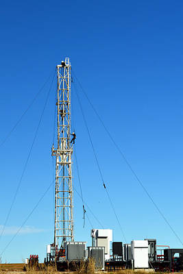 Oil Field Man At Work - Photography Poster by Ann Powell