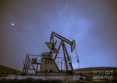Oil Rig And Stars Poster