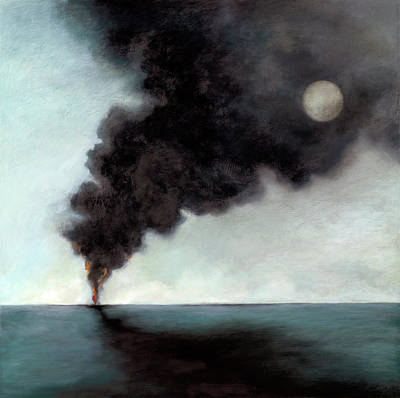 Oil Spill 3 Poster by Katherine DuBose Fuerst