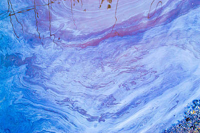 Oil Spill On Water Abstract Poster