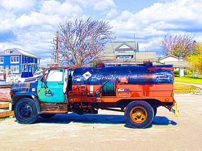 Oil Tanker Truck 1 Poster
