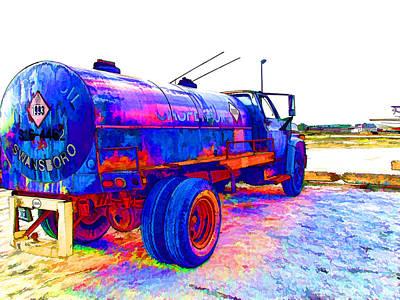 Oil Tanker Truck Poster
