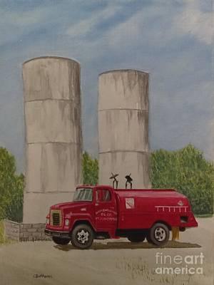 Oil Truck Poster