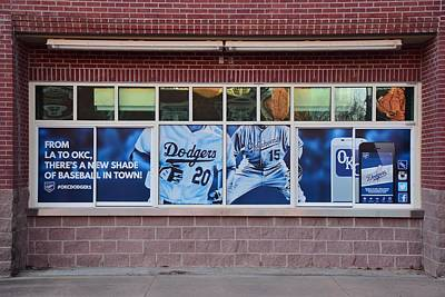 Okc Dodgers Poster by Frozen in Time Fine Art Photography