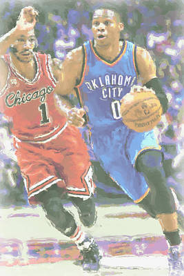 Oklahoma City Thunder Russell Westbrook Poster