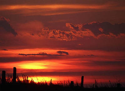 Oklahoma Sky At Daybreak  Poster