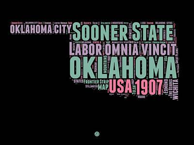 Oklahoma Word Cloud 1 Poster