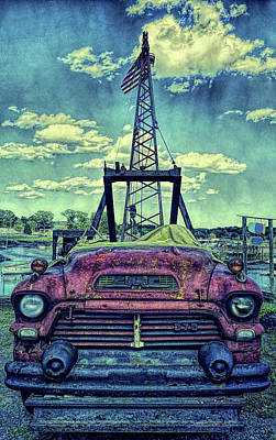 Old And Rusty Gmc Truck Poster by Lilia D