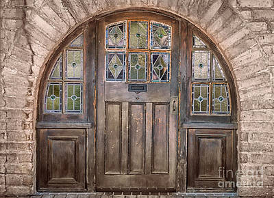 Old Archway And Door Poster by Sandra Bronstein