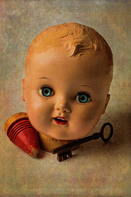 Old Baby Doll Head Poster