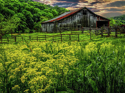 Old Barn 2 Poster by Elijah Knight