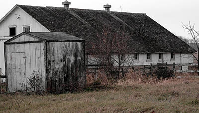 Old Barn And Outbuilding Poster