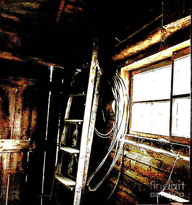 Old Barn Ladder Poster