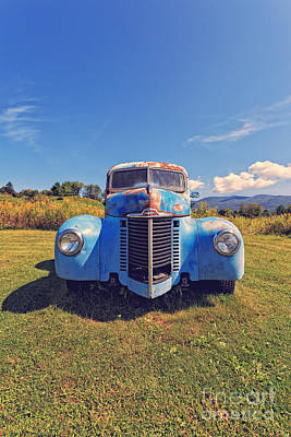 Old Blue Truck Vermont Poster