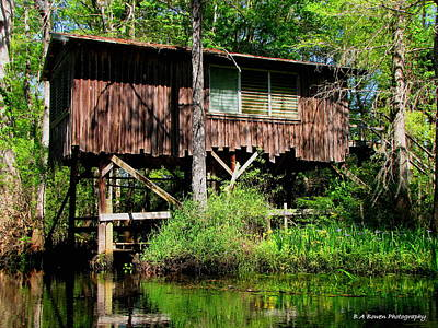 Poster featuring the photograph Old Boat House by Barbara Bowen
