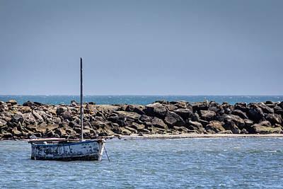 Old Boat - Half Moon Bay Poster