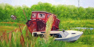 old boats in Belford Poster