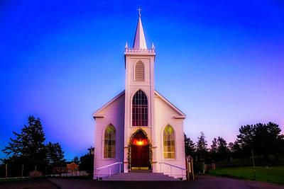 Old Bodega Church Sunset Poster