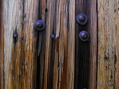 Old Door With Bolts And Nails Poster