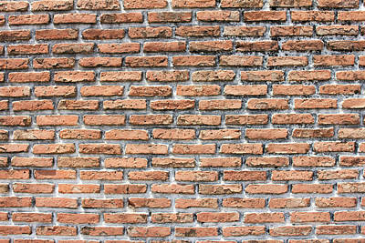 Poster featuring the photograph Old Brick Wall by Jingjits Photography
