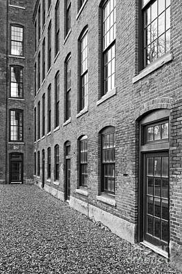 Old Brick Warehouse Black And White Poster