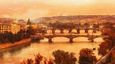 Old Bridges Of Prague Poster