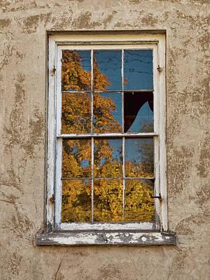 Old Broken Window Poster