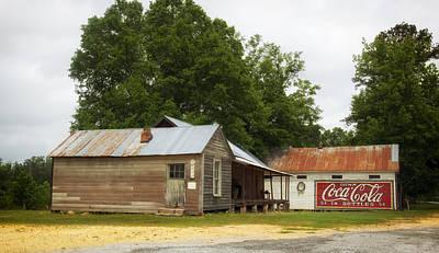 Old Buildings In Burnt Corn Alabama Poster