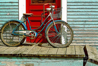 Old Bicycle. Warren, Vermont Poster by George Robinson