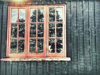 Old Cabin Window Poster by Tom Gowanlock