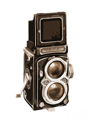 Old Camera Tee Poster by Edward Fielding