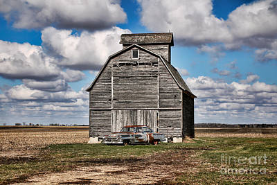 Old Car And Barn Poster by Scott Nelson