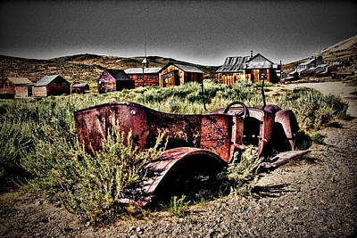 Old Car At Bodie Poster by Chris Brannen