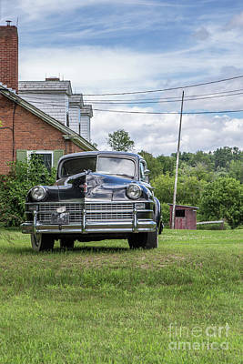 Old Car In Front Of House Poster