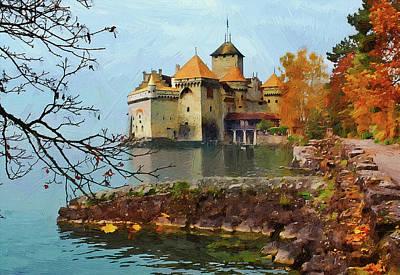 Old Castle Landscape Poster