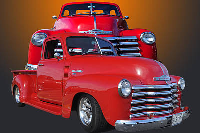 Old Chev Poster by Jim  Hatch