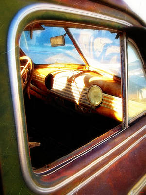 Old Chevrolet Dashboard Poster